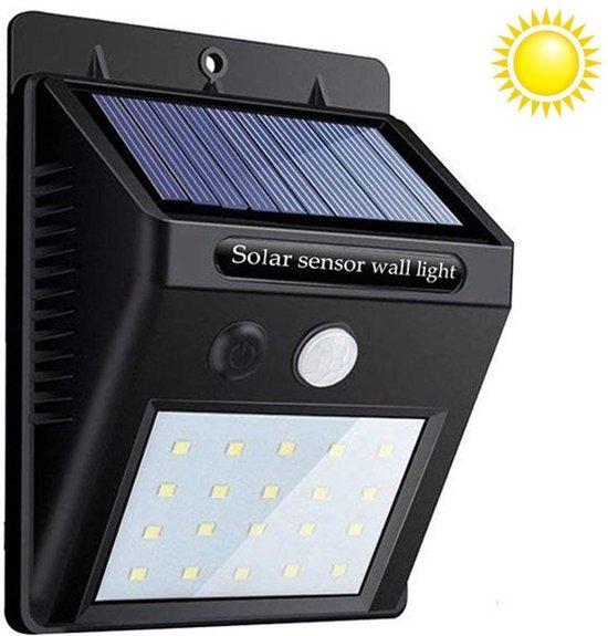 Eyzo Solar Wandlamp voor buiten - Met bewegingssensor - Zonne-energie - 20 LED lampen