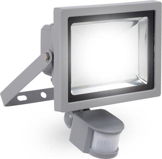 Powerplus LED Schijnwerper - Met bewegingssensor - 20W - IP44 - Grijs
