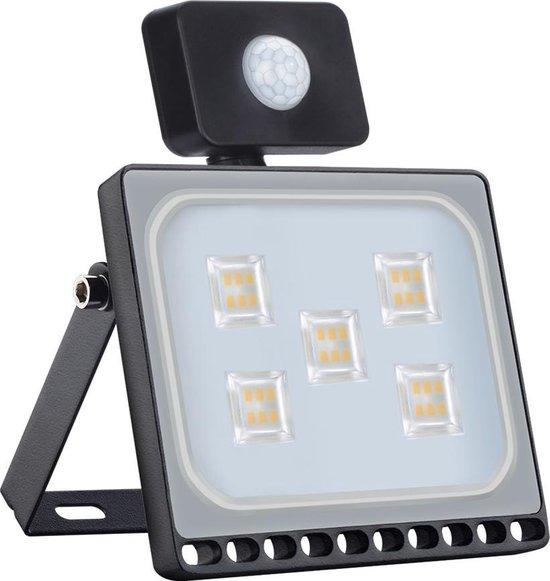 Profile LED Schijnwerper - Met bewegingssensor - 30W - IP67 - Extra dun - Zwart