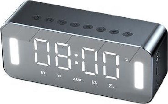 Wekkerradio - Digitale Wekker - Lichtwekker - Bluetooth - Kinderen - Radio - Muziek - Dubbele wektijden - Speaker